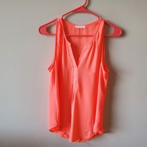 Lush Womens Tank Top  Size Medium  Neon Orange